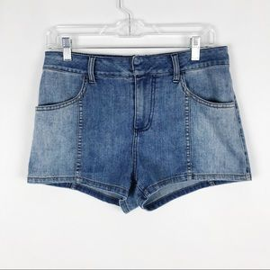 Free People High Waist Medium Wash Denim Shorts 29